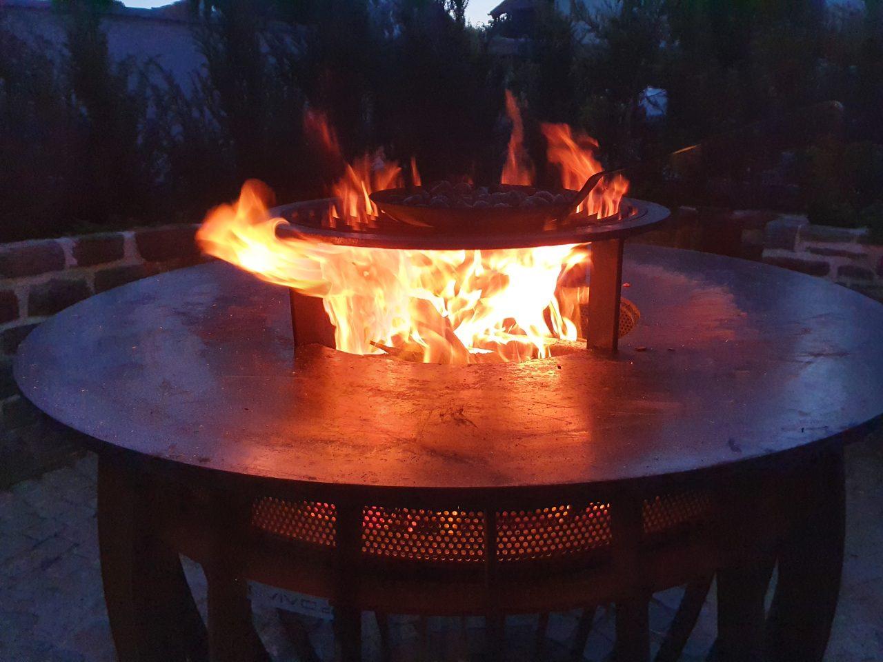 Feuer in der Envivo Feuerschale